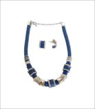 Necklace & Earrings Blue