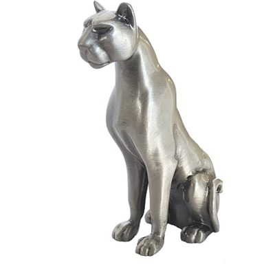lioness sitting pewter