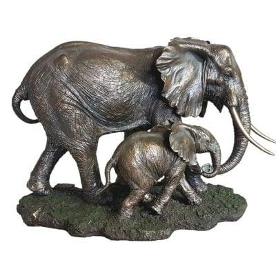 Akilah - bronzed elephant sculpture