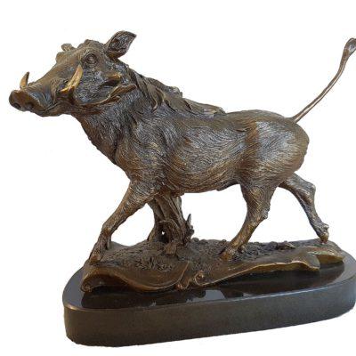 Bronze warthog