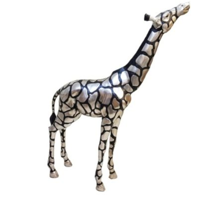 Silver Giraffe Head Up