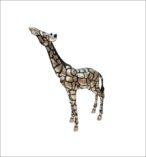 Silver Giraffe Head Up
