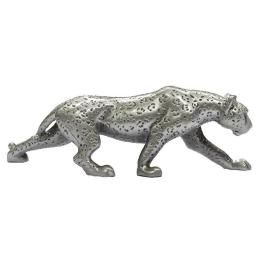 Pewter Leopard Walking PA18