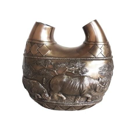 Rhino Vase ZA14003