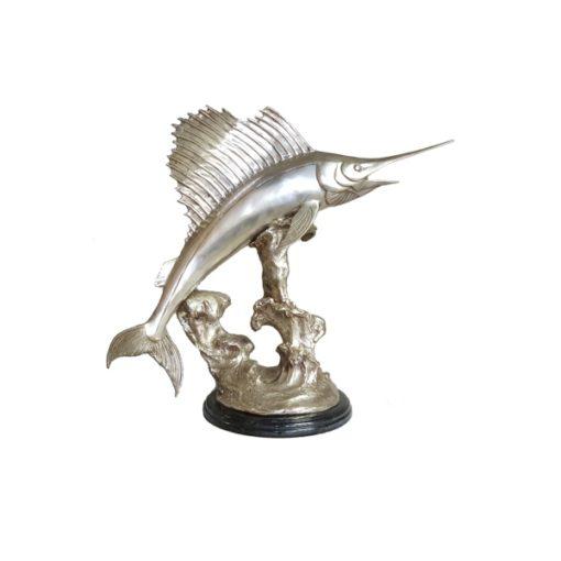 Sailfish silver sculpture