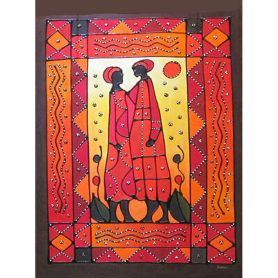 African tribes painting