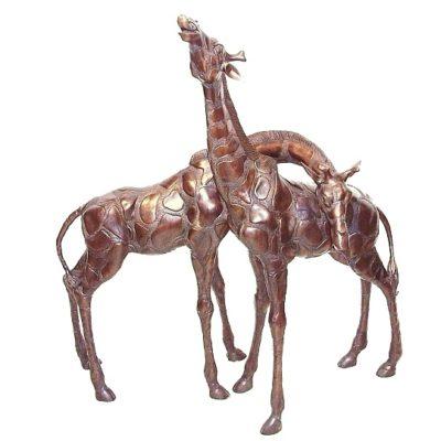 bronze giraffes