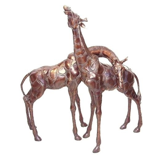bronze giraffe pair_crop
