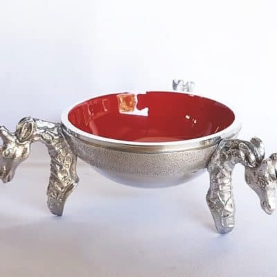 red giraffe snack bowl