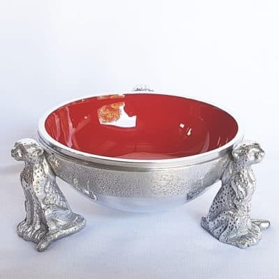 red cheetah snack bowl