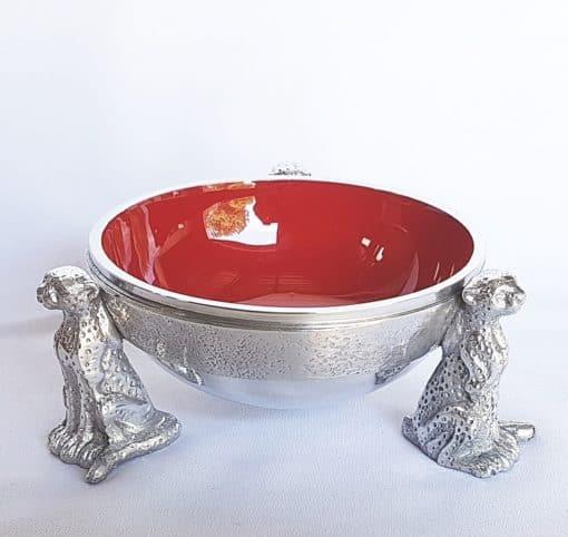 red cheetah snack bowl