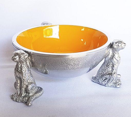 2 Cheetah Round bowl