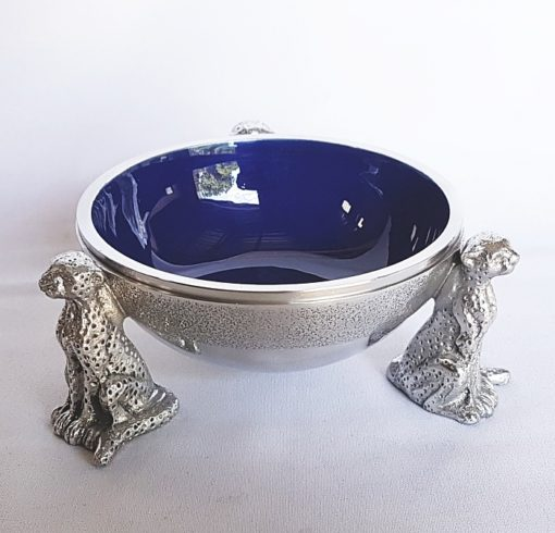 blue cheetah snack bowl