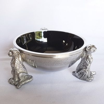 black cheetah snack bowl
