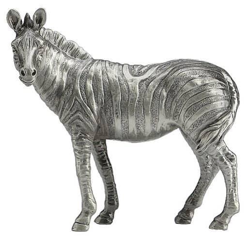 Zebra pewter animal