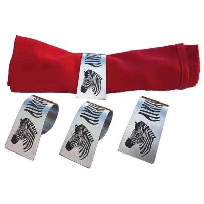 Napkin rings - zebra